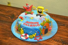 #spongebob #fondant #cake