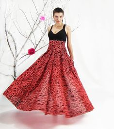 Maxi Skirt Circle Skirt Plus Size Skirt Floor Length от FatBerry
