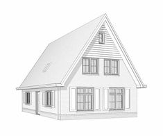 Kleine Kaap Affordable House Plans, Affordable Housing, Hillside House, House Drawing, Houses, Cabin, House Styles, Home Decor, Modern
