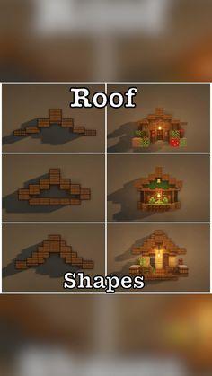 Minecraft Roof, Casa Medieval Minecraft, Minecraft House Plans, Minecraft House Tutorials, Minecraft Modern, Cute Minecraft Houses, Minecraft House Designs, Amazing Minecraft, Minecraft Tutorial