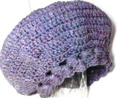 Boina Francesa de crochet em lã... com desenho Outono Inverno Lançamento e  Exclusividade Mimos de Silvinha Essa um lilás acinzentado encomendar todas  as ... 51252b34262