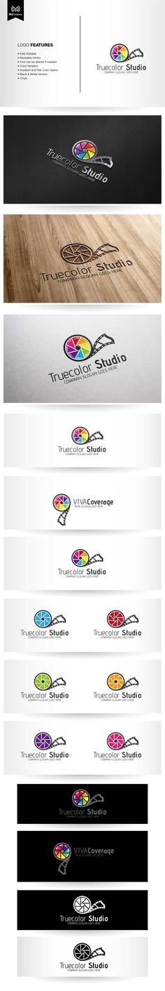 Photo and Film Studio Logo by Marco Jay, via Behance