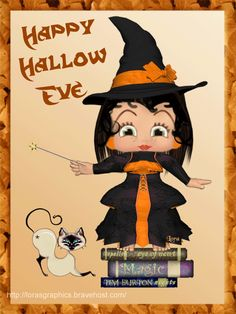 Happy Hallo Eve ~ Halloween Betty Boop Graphics & Greetings: http://bettybooppicturesarchive.blogspot.com/search/label/Halloween ~and on Facebook~ https://www.facebook.com/media/set/?set=a.710293905651126.1073741836.157123250968197&type=3 - animated gif - Witch Betty Boop using her magic wand to change the color of her cat by Hilda