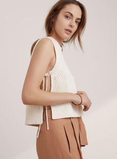 <p>A linen-blend knit that shows a little skin</p>