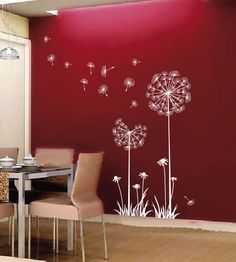 Dandelions - Vinyl Wall Decal - Tree Wall Decal Wall Sticker - wall decor - cherry blossom branch wall decal. $32.99, via Etsy.