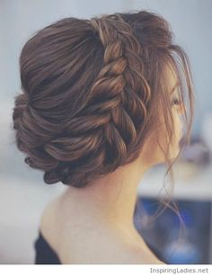 Braided updo for the bride | Inspiring Ladies