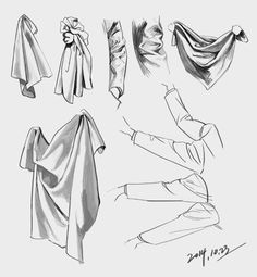 Image about clothes in For drawing 🎨 by 死にたい on We Heart It Drapery Drawing, Fabric Drawing, Texture Drawing, Drawing Skills, Drawing Techniques, Drawing Sketches, Art Drawings, Figure Drawing Reference, Art Reference Poses