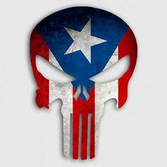 Puerto Rican Power, Puerto Rican Flag, American Flag Decal, American Flag Eagle, Puerto Rico Tattoo, Cross Flag, Skull Pictures, Eagle Wings, Punisher Skull
