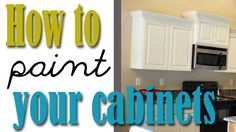 How to paint your kitchen cabinets {professionally} This will come in handy since I want white cabinets! @aggiegirl_24