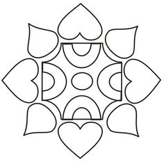 Printable Design Patterns | Rangoli design coloring printable Page for kids 5: Rangoli designs ...