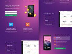 Dribbble - Tapcore - Landing Page Initial Design by Dwinawan Hariwijaya
