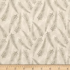Bluebell Wood Tonal Ferns Cream from @fabricdotcom  Designed by Lewis and Irene, this nature inspired cotton print fabric is perfect for quilting, apparel and home decor accents. Colors include beige and cream.