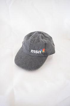 6ef972f9216 MSN CAP 90s baseball hat charcoal gray tech by GUTTERSHOPWEST .