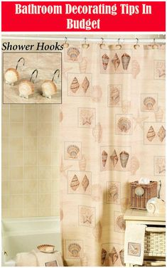 Decorating Tips for the Bathroom Decorating Basics, Ideal Bathrooms, Decorating On A Budget, Bathroom, Professional Decor, Shower Curtain Decor, Curtain Decor, Bathrooms Remodel, Bathroom Decor