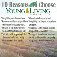 Here are just a few of the reasons we use Young Living Essential Oils…