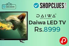 Shopclues #Daiwa #LED Tv Exclusive Online Starts Rs.8999. DAIWA, inspired by Japanese technology, is a leading brand in LED TVs.   http://www.paisebachaoindia.com/daiwa-led-tv-starts-rs-8999-shopclues/