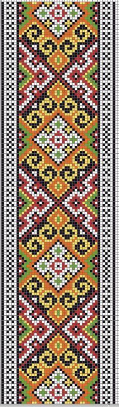 Knitting loom rug ideas ideas for 2019 Bead Loom Bracelets, Beaded Bracelet Patterns, Bead Loom Patterns, Peyote Patterns, Beading Patterns, Embroidery Bracelets, Cross Stitch Borders, Cross Stitch Designs, Cross Stitching