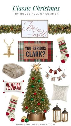 Christmas Decor Theme Ideas {and How to Easily Change Yours!} — House Full of Summer - Coastal Home & Lifestyle Merry Christmas, Southern Christmas, Tartan Christmas, Nautical Christmas, Christmas Mantels, Christmas Gift Guide, Green Christmas, Christmas Ornaments, Christmas Gifts