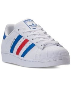adidas Boys' Superstar Casual Sneakers from Finish Line - White 4.5