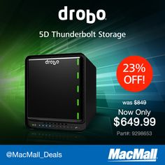 MacMall Deal: Save $249 on this @Jim Schachterle Sherhart 5D #Thunderbolt storage enclosure bay.