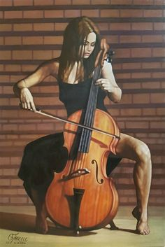 Image result for Painting of Woman Playing Cello