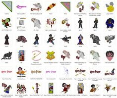 Harry Potter - 113 embroidery designs pack - Free Machine Embroidery Designs Download