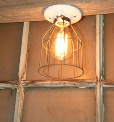 Industrial Light Vintage Style Metal Wire Cage by IndustrialRewind, $14.00