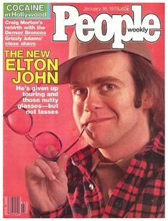 Elton john on the cover of People January 16, 1978