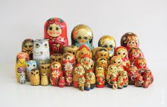 nesting+doll+collection.jpg (1008×646) - Russian (& other) nesting dolls