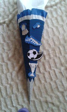 Schultüten - Bastel-Set Soccer2 od. fertig gebastelt - ein Designerstück von kreativ-was-sonst bei DaWanda