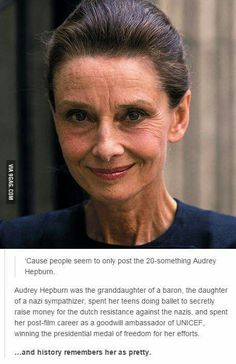 Audrey Hepburn, not only was she beautiful but she was an amazing woman!