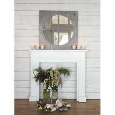 kaminumrandung selber bauen dekokamin weiss kamin sitzkissen deko spiegel rund deko. Black Bedroom Furniture Sets. Home Design Ideas