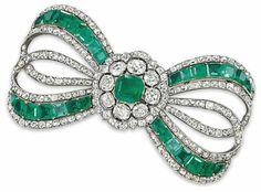 Emeralds, diamonds