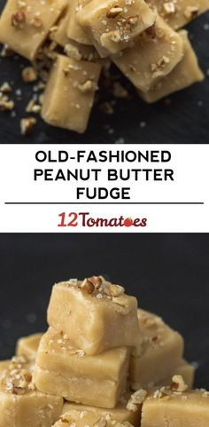 Old-Fashioned Peanut Butter Fudge - Delicious dinners - Fig Recipes, Easy Baking Recipes, Candy Recipes, Gourmet Recipes, Cookie Recipes, Dessert Recipes, Recipies, Peanut Butter Roll, Peanut Butter Recipes
