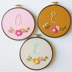 Who loves to DIY? There are plenty of embroidery patterns to choose from in my shop (instant download PDF!) including this cute monogram hoop! Link in profile