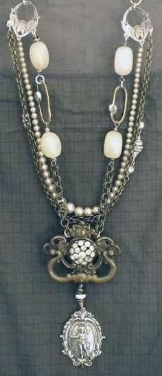 Kati Koos ~ Late October 2010 Newsletter - love the old drawer pull as the pendent