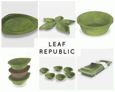 Platos biodegradables hechos con hojas naturales que se descomponen en 28 días