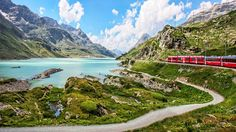 The Rhäetian Railway provides an awe-inspiring, adrenaline-inducing ride past therapeutic springs and mountain-perched castles, crossing 84 tunnels and 383 bridges along the way.