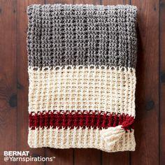 Lumberjack Crochet Throw, Crochet Pattern, Bernat | Yarnspirations