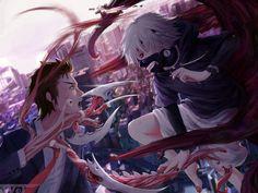 Parasyte x Tokyo Ghoul - Shinichi & Migi vs Kaneki by Lew_WJ on pixiv