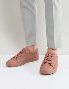 san francisco 3cfe9 0f12e  19.00 - ASOS Lace Up Sneakers In Pink Men s Sneakers, Sneakers Fashion,  Stylish Men