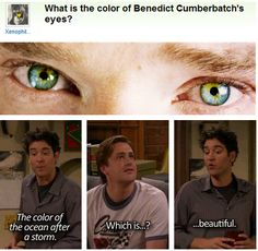 What Color are Benedict Cumberbatch's Eyes? YES