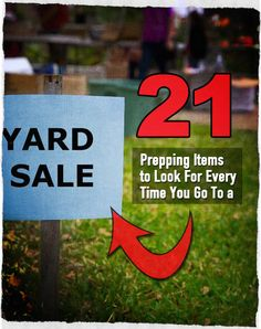 21 Prepping Items to Look For Every Time You Go To a Yard Sale