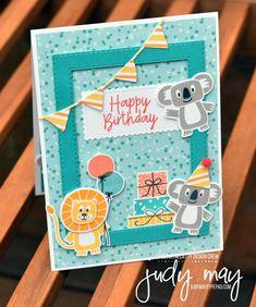Just Judy Designs - Bonanza Buddies - Just Judy Designs Stampin' Up! Bonanza Buddies Bundle – Judy May, Just Judy Designs, Melbourne Baby Cards, Kids Cards, Stampin Up Christmas, Christmas Cards, Tarjetas Stampin Up, Stampin Up Catalog, Kids Birthday Cards, Fathers Day Cards, Stamping Up Cards