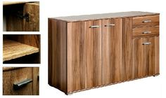 Walnut Chest of Drawers Large Wooden Sideboard Storage Buffet Cabinet TV Stand  #CSSchmal