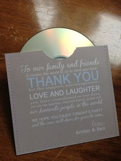 80 personalized cd sleeve wedding favor ANY COLOR on Etsy, $120.00