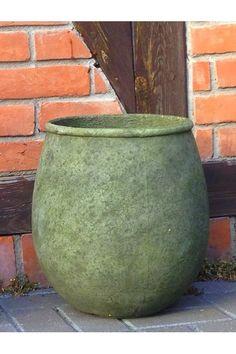 Terracastproducts Round Pot Planter Color Ash Granite Size