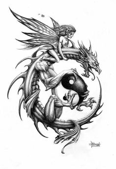 Dragon Rider by on DeviantArt Dragon Rider by on deviantART . - Dragon Rider by on DeviantArt Dragon Rider by on deviantART This image has get - Tattoo Drawings, Body Art Tattoos, Sleeve Tattoos, Cool Tattoos, Tattoo Sketches, Tatoos, Circle Tattoos, Drawing Sketches, Celtic Dragon Tattoos