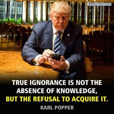 STUPIDITY is the refusal to acquire knowledge, or even be INTERESTED in knowledge and truth.