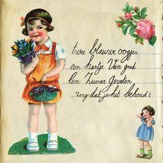 Poster Meisje poesiealbum - Gevonden geluk! - De Oude Speelkamer